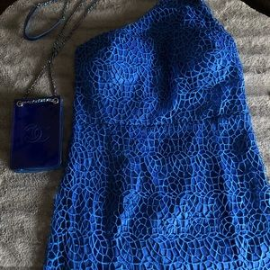 NWT ROYAL BLUE DRESS 👗 WITH MATCHING PURSE